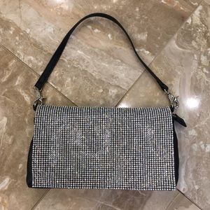 NWOT Guess by Marciano black rhinestone purse